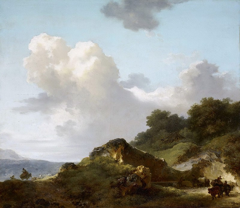Mountain landscape. Jean Honore Fragonard