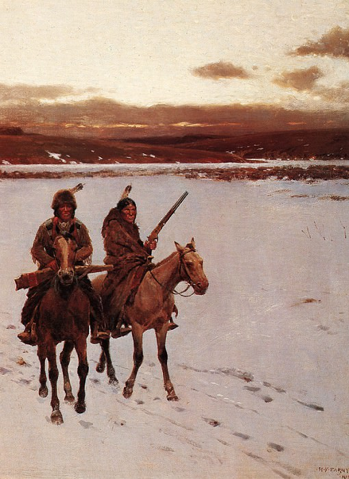 The Departure Of The Buffalo Hunt 1912 2. Henry François Farny