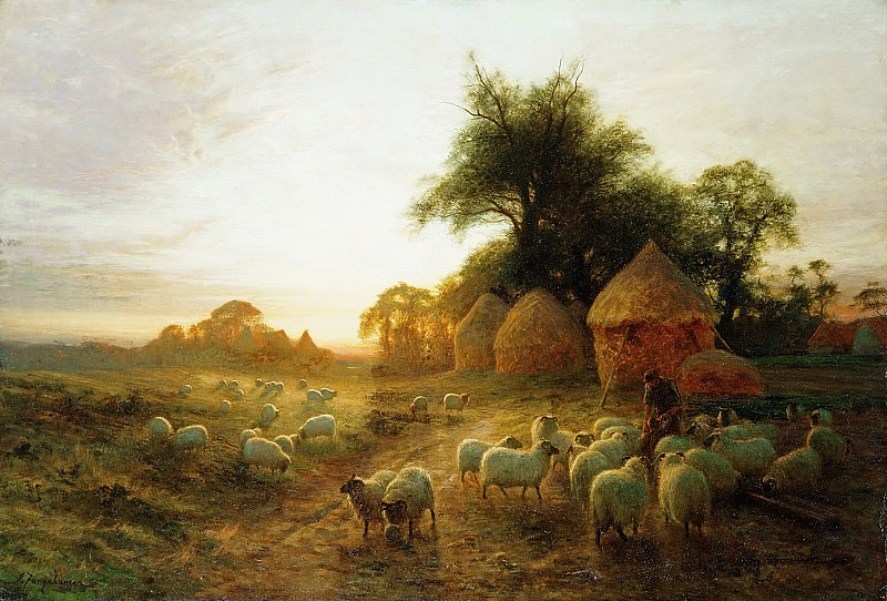 Yon Yellow Sunset Dying in the West. Joseph Farquharson