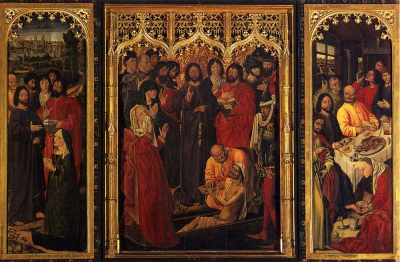 Resurrection Of Lazarus (Triptych). Nicolas Froment
