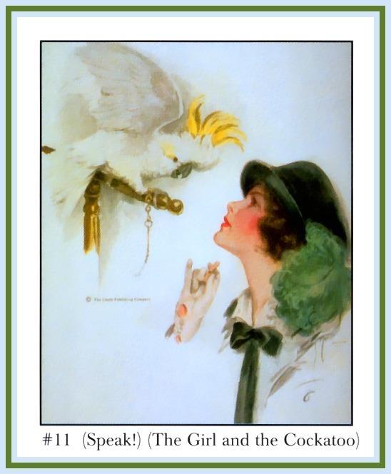 (Говори!) (Девушка и попугай). Харрисон Фишер