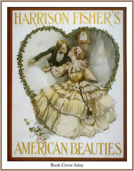 Обложка книги -Американские красавицы-. Харрисон Фишер