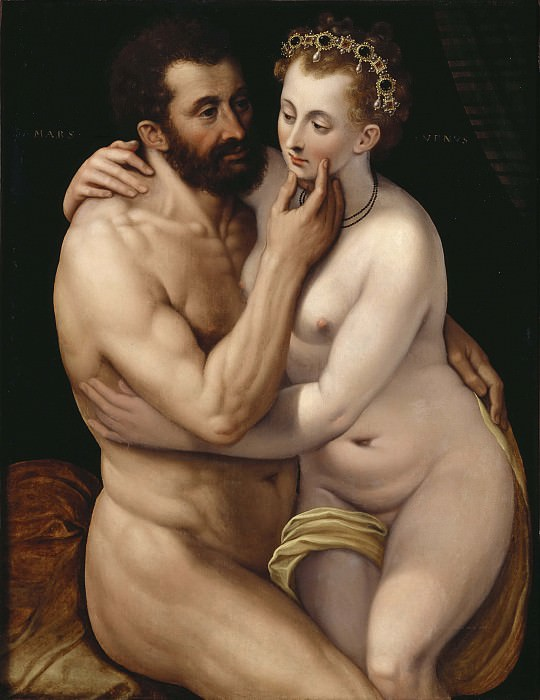 Mars and Venus. Frans Floris (Manner of)