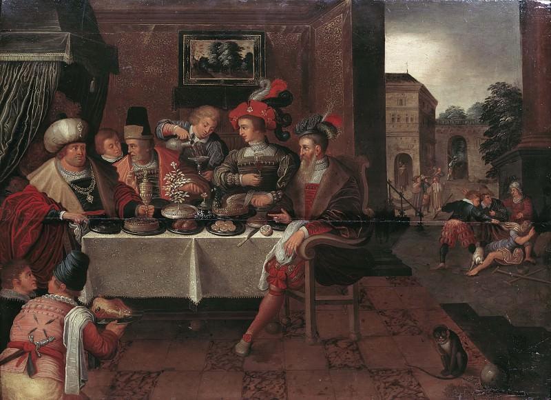 The Rich Man and Lazarus. Frans Francken the Elder (School)