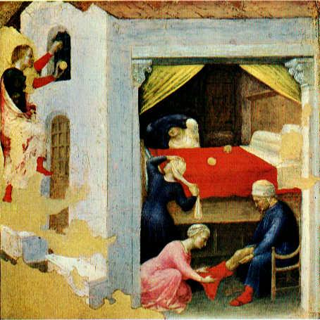 Quaratesi Altarpiece Poor Maidens. Gentile da Fabriano