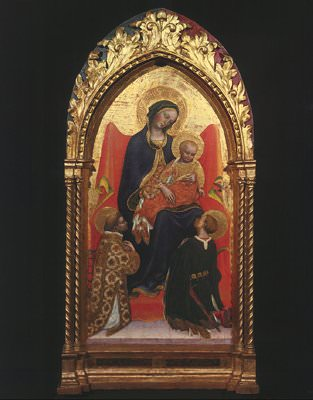 Madonna and Child, with Sts. Lawrence an. Gentile da Fabriano