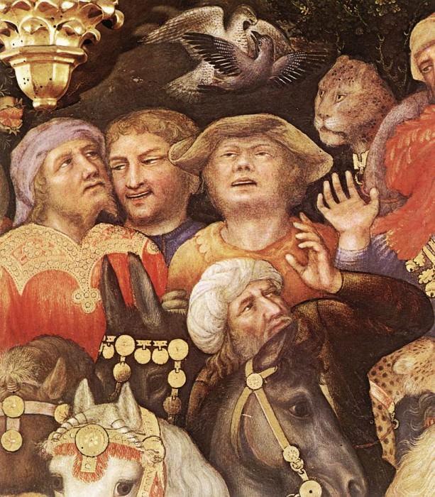Поклонение волхвов, фрагмент. Джентиле да Фабриано