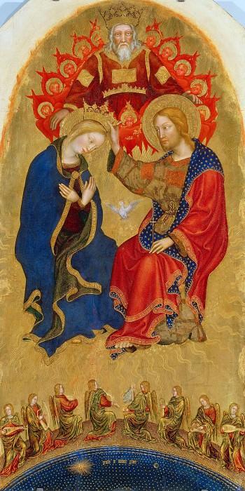 The altar polyptych Coronation of the Virgin (Valle Romita Polyptych) - Coronation of the Virgin. Gentile da Fabriano