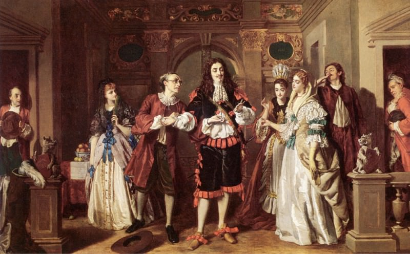 A scene from Molieres LAvare. William Powell Frith