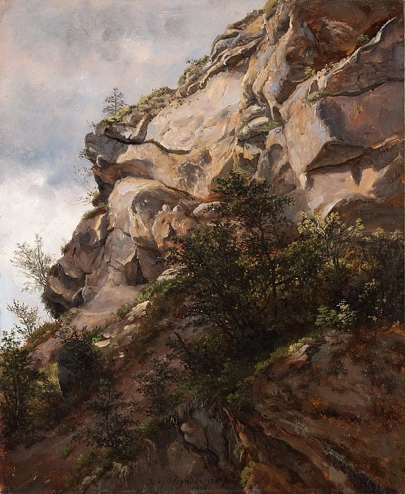 Rock at Berchtesgaden. Thomas Fearnley