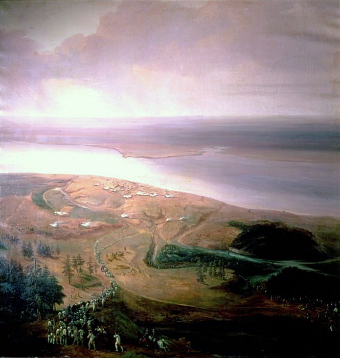 The Siege of Yorktown and defeat of the British by American and French allies (1-17) October 1781. Jean Antoine Simeon Fort
