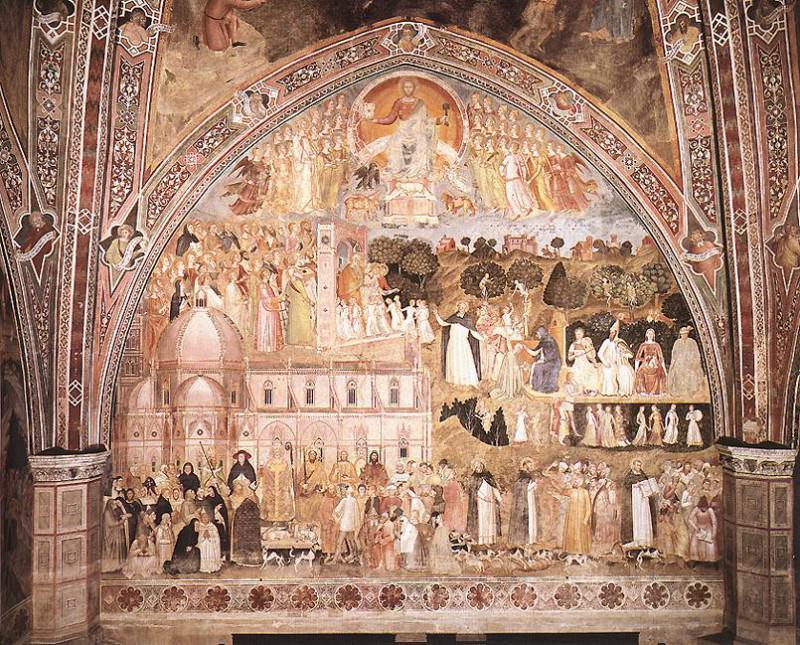 The Church Militant and Triumphant. Andrea di Bonaiuto da Firenze