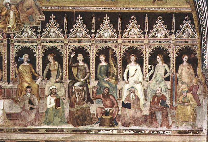 Triumph of St Thomas and Allegory of the Sciences detail2. Andrea di Bonaiuto da Firenze