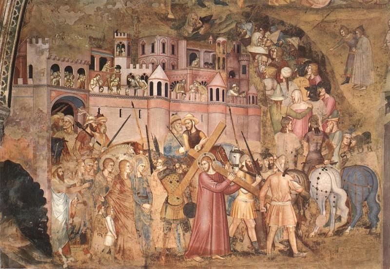 Христос, несущий крест на Голгофу, 1365-68. Андреа ди Бонаюто да Фиренце