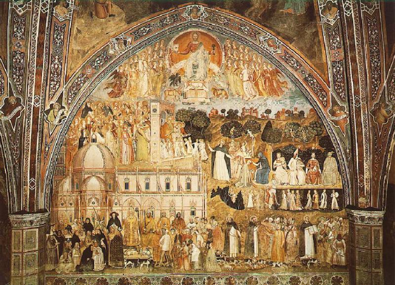 The church militant and triumphant, 1365-. Andrea di Bonaiuto da Firenze