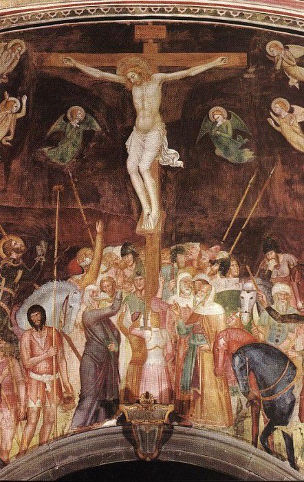 Crucifixion detail. Andrea di Bonaiuto da Firenze