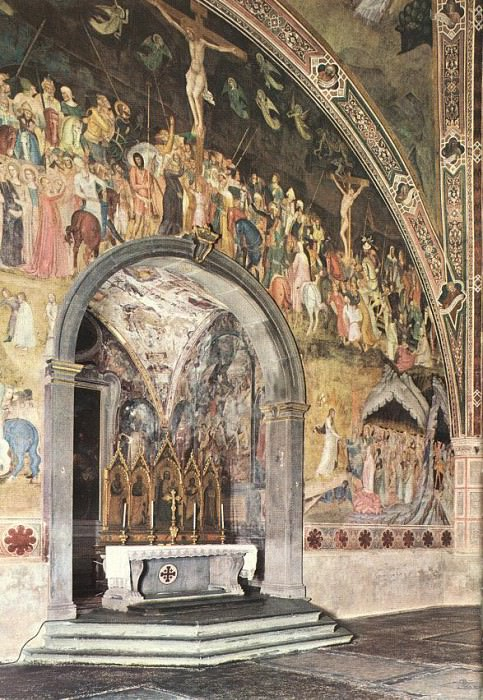 Frescoes on the central wall, 1365-68, Cap. Andrea di Bonaiuto da Firenze