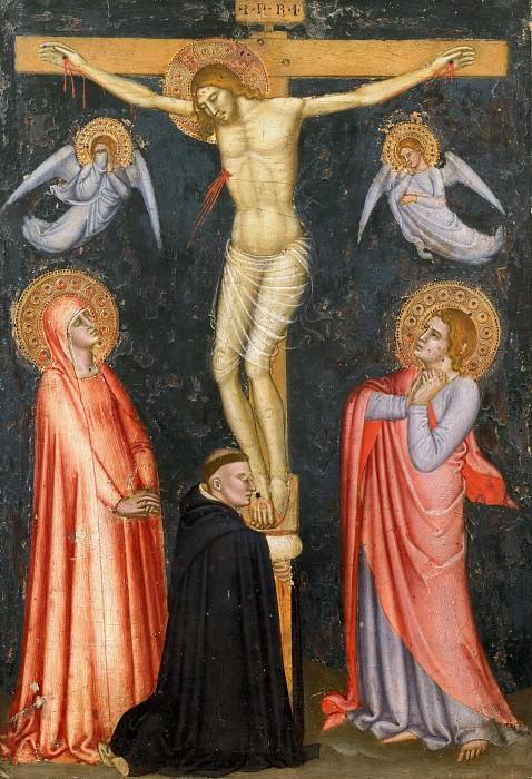 Crucifixion with the Virgin, Saint John the Evangelist, and a Dominican Monk. Andrea di Bonaiuto da Firenze