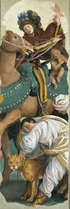 Триптих поклонения волхвов (левая створка). Гауденцио Феррари