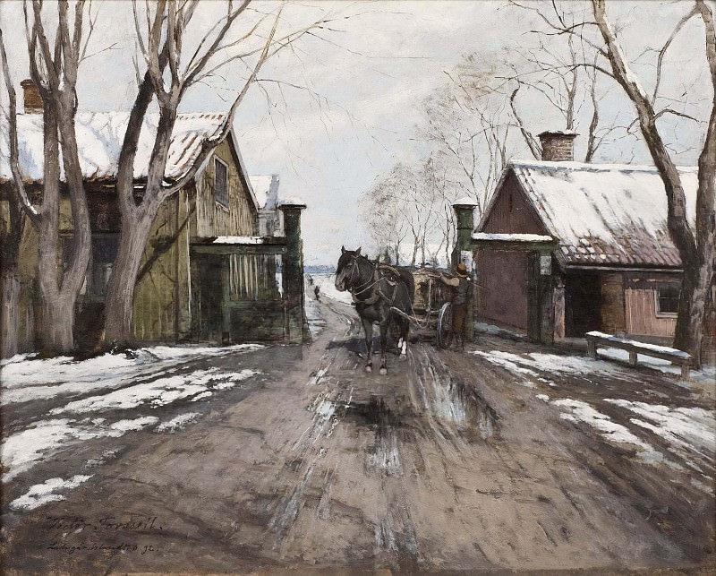 At the City Toll Gate. Victor Forssell
