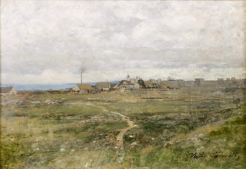 View of Visby Ring Wall. Victor Forssell