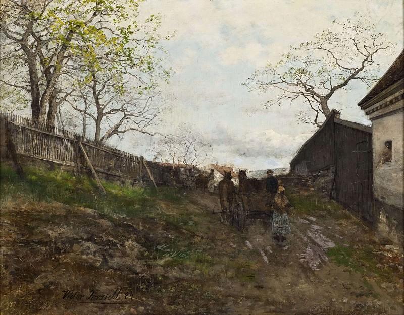 Весенний пейзаж. Виктор Форселл