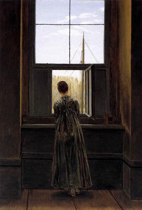 Woman At A Window. Caspar David Friedrich