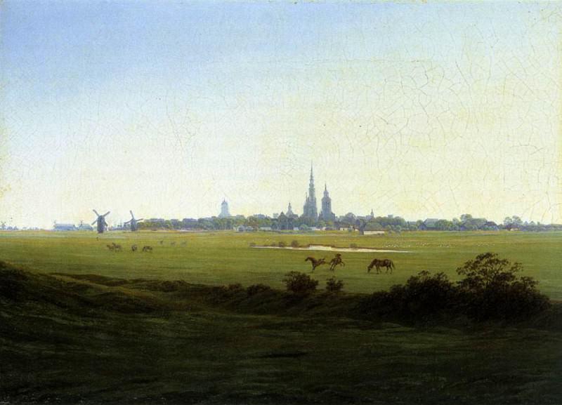 Meadows Near Greifswald. Caspar David Friedrich