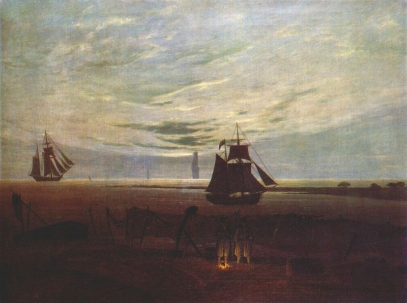 evening by the baltic 1831. Caspar David Friedrich
