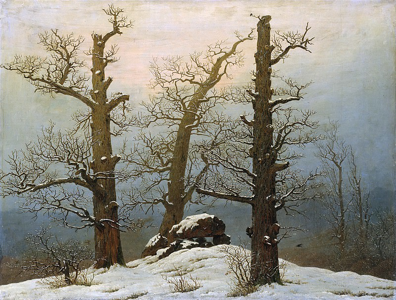 Дольмен под снегом. Каспар Давид Фридрих