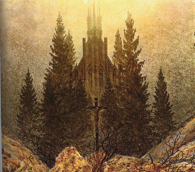 The Cross on the Mountain Kunstmuseum at Dusseldorf. Caspar David Friedrich