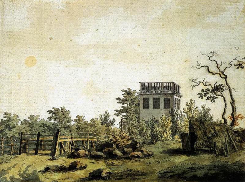 Landscape With Pavilion. Caspar David Friedrich