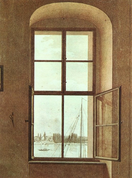 View from the Painters Studio. Caspar David Friedrich