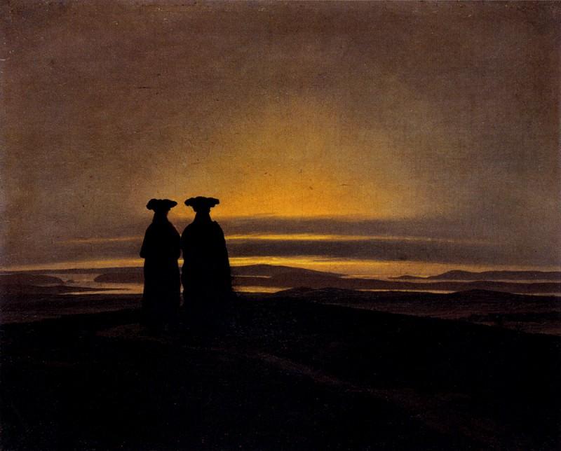 Sunset. Caspar David Friedrich