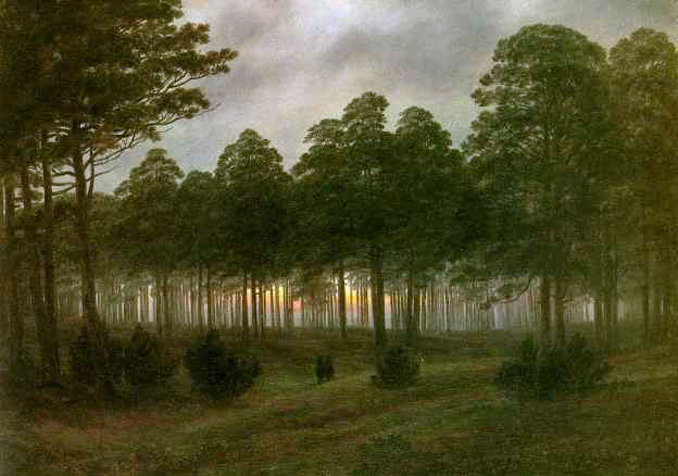 Evening. Caspar David Friedrich