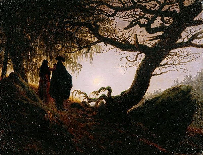 Man and Woman Contemplating the Moon. Caspar David Friedrich