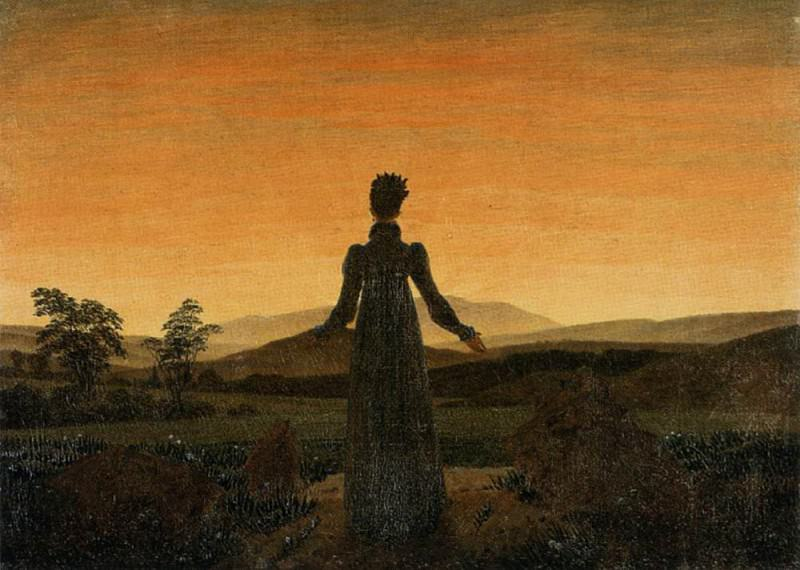 Woman Before The Rising Sun. Caspar David Friedrich