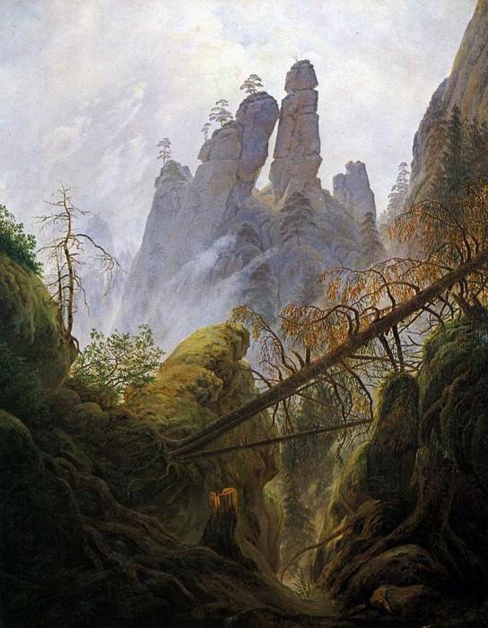 Rocky Ravine. Caspar David Friedrich