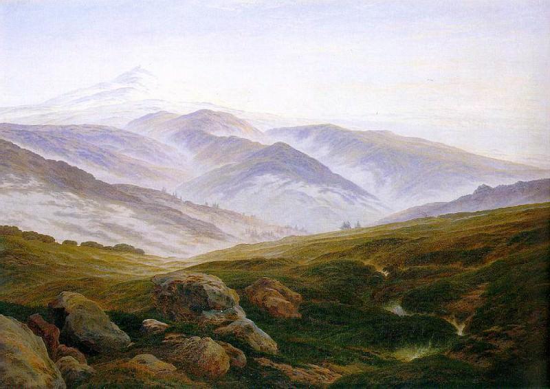 1835 Riesengebirge. Caspar David Friedrich