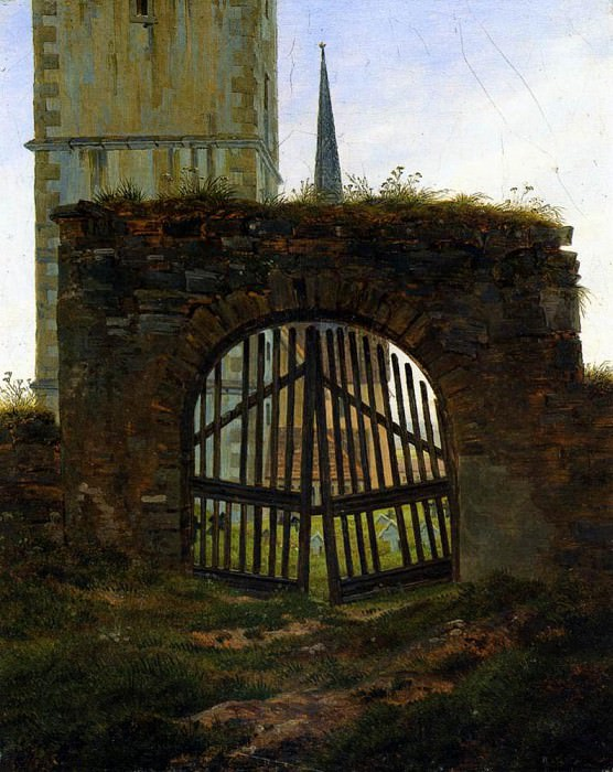 The Cemetery Gate. Caspar David Friedrich