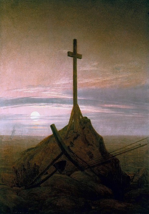 Cross beside The Baltic. Caspar David Friedrich