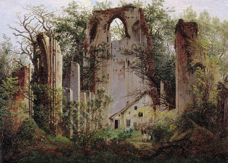 Ruins of the Eldena Monastery near Greifswald. Caspar David Friedrich