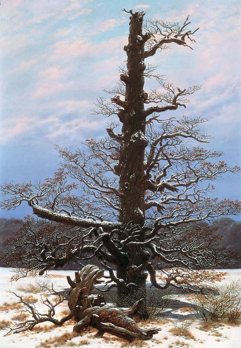 Oak Tree in the Snow. Caspar David Friedrich