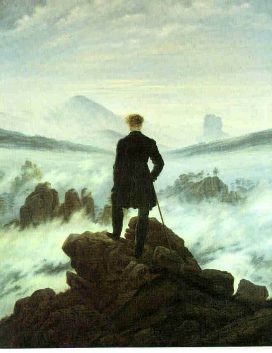 1818 Wanderer above the Sea of Fog. Caspar David Friedrich