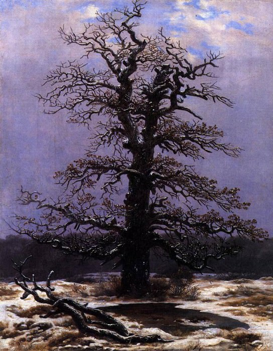 Oak In The Snow. Caspar David Friedrich