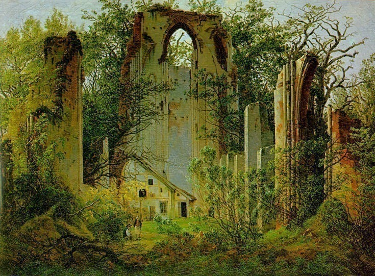 Eldena Ruin. Caspar David Friedrich