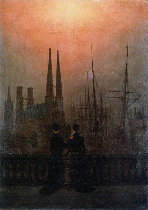 The Sisters On The Balcony. Caspar David Friedrich