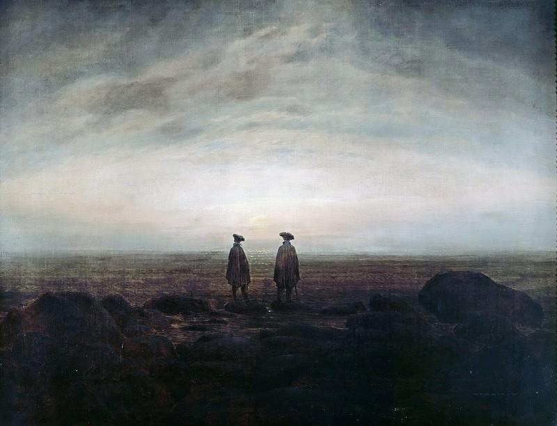 Двое мужчин у моря. Каспар Давид Фридрих
