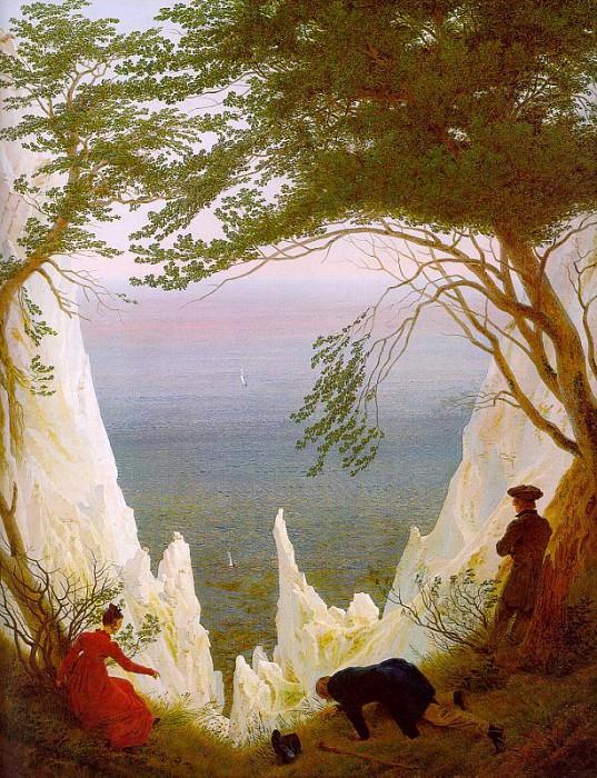 Chalk Cliffs on Rugen. Caspar David Friedrich