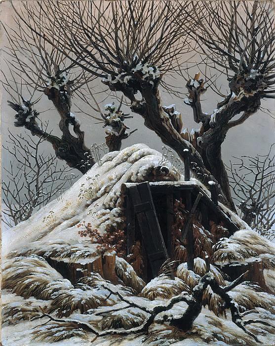 Hut in the Snow. Caspar David Friedrich